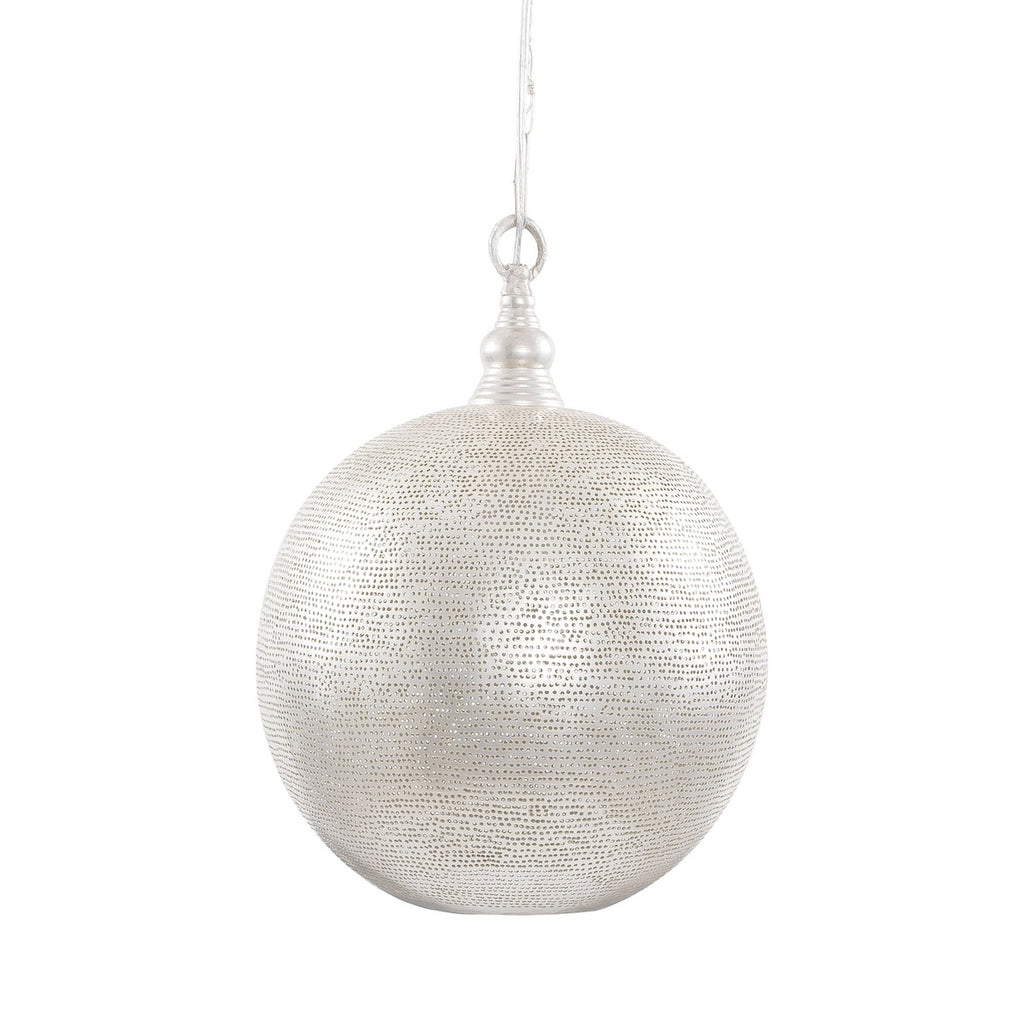 Filisky Silver Moroccan Pendant Light