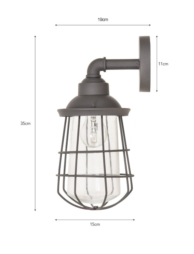 Finsbury wall light in charcoal