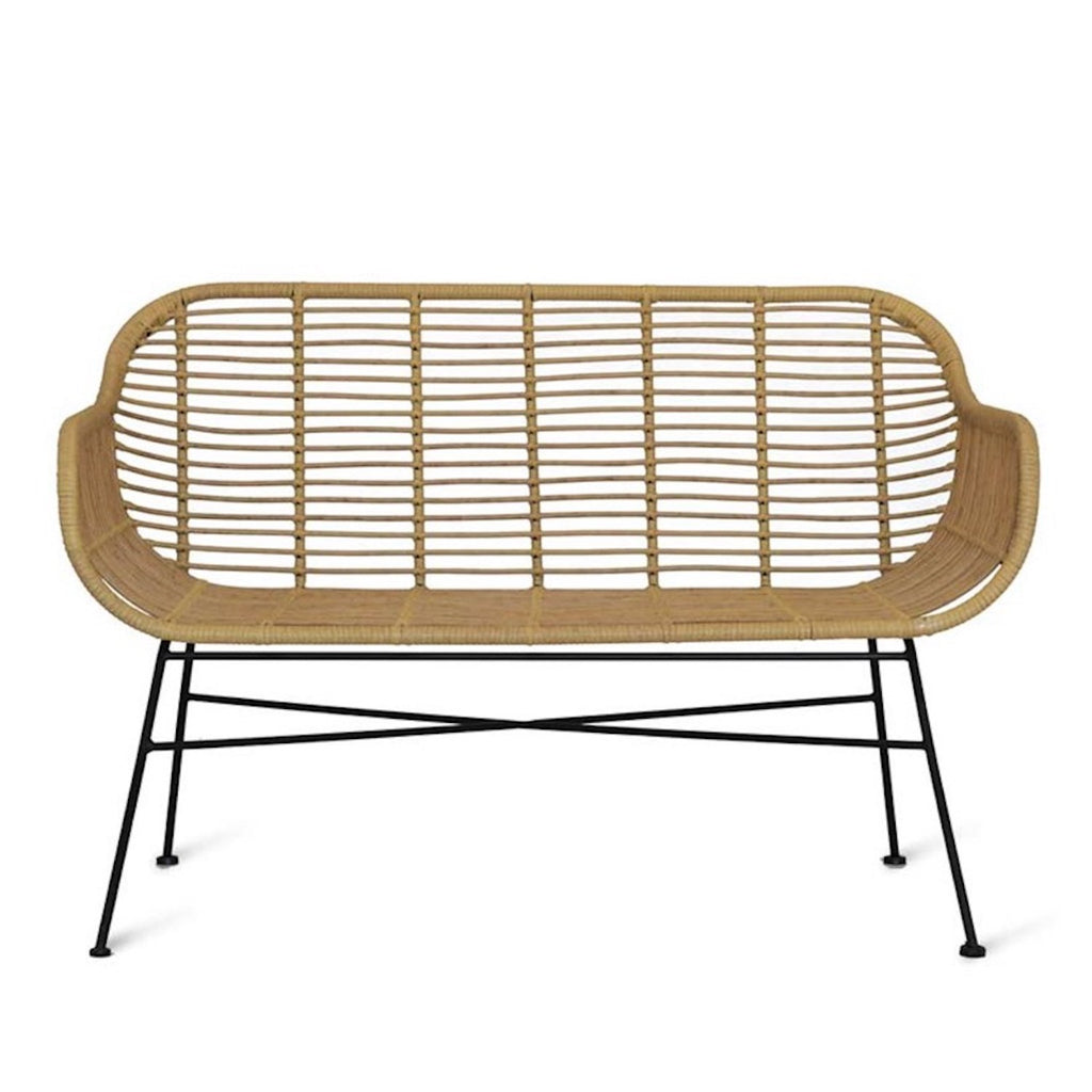 Hampstead outdoor bamboo bench