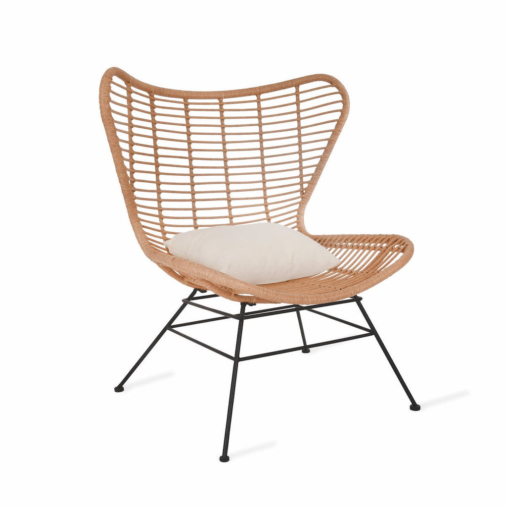 PE bamboo winged back bamboo chair
