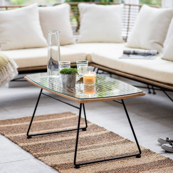 Hampstead bamboo coffee table