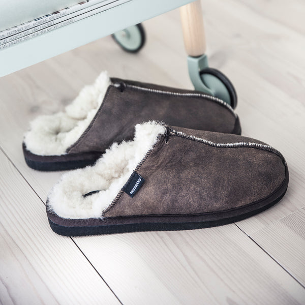 mens sheepskin slippers