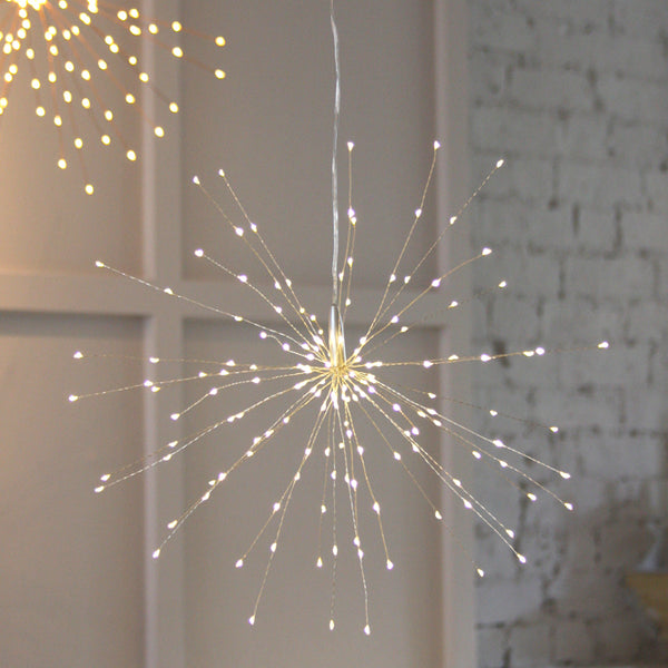 silver starburst hanging light