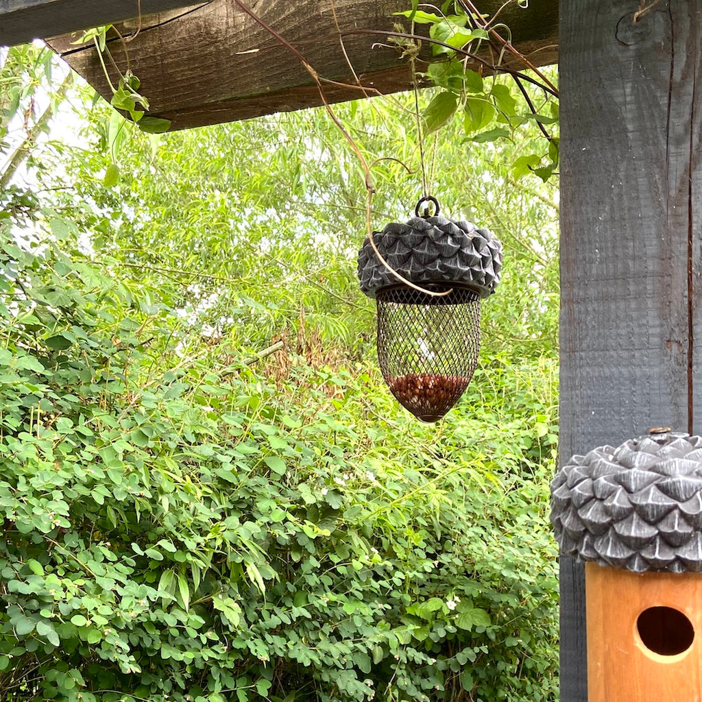 acorn shaped peanut bird feeder