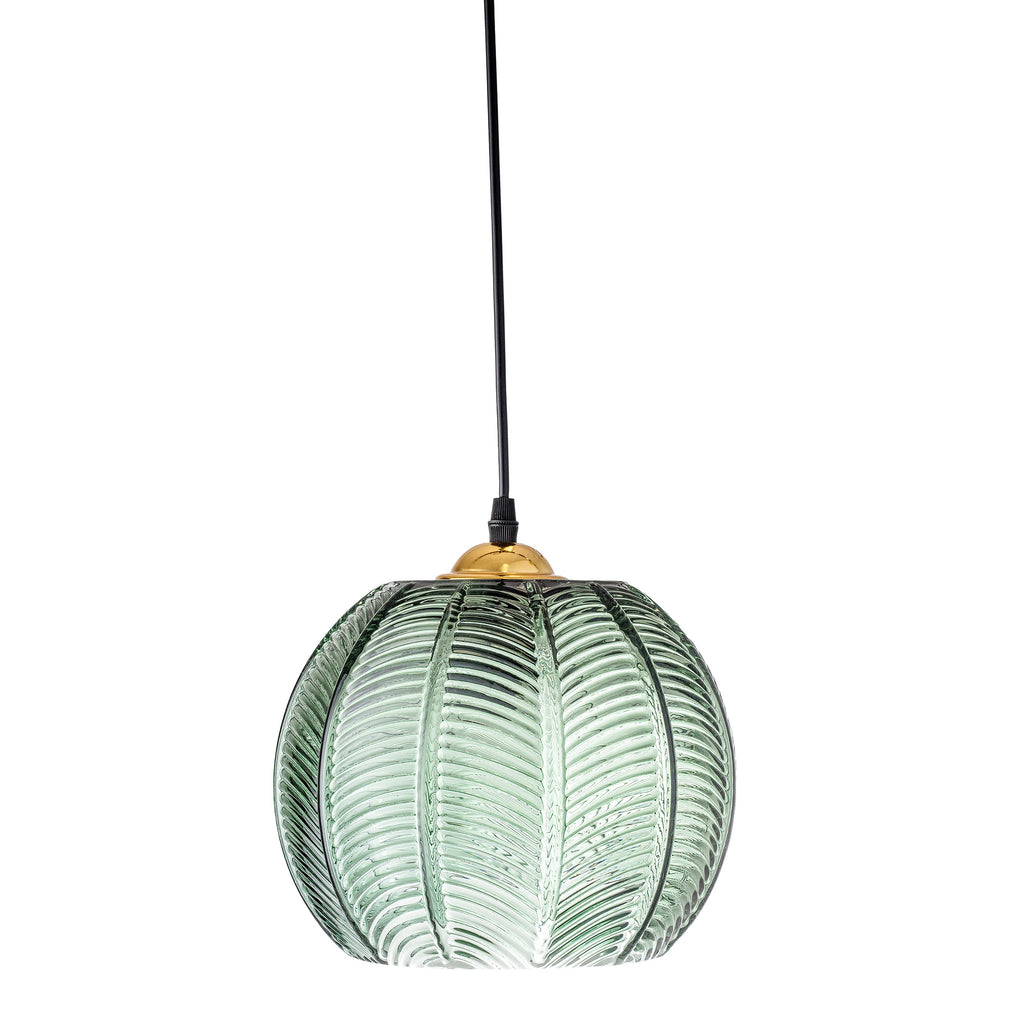 Green Palm Leaf Pendant Light