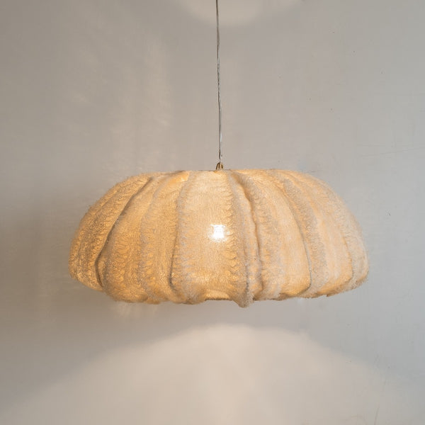 Loofah sponge pendant light by Zenza