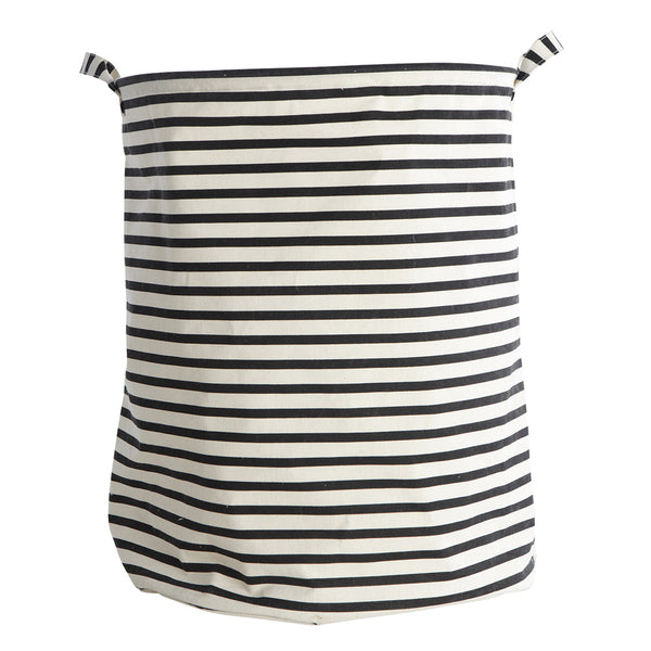 black and white stripe laundry bag by House Doctor