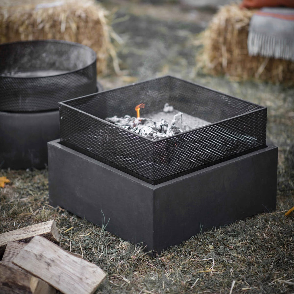 square metal fire pit