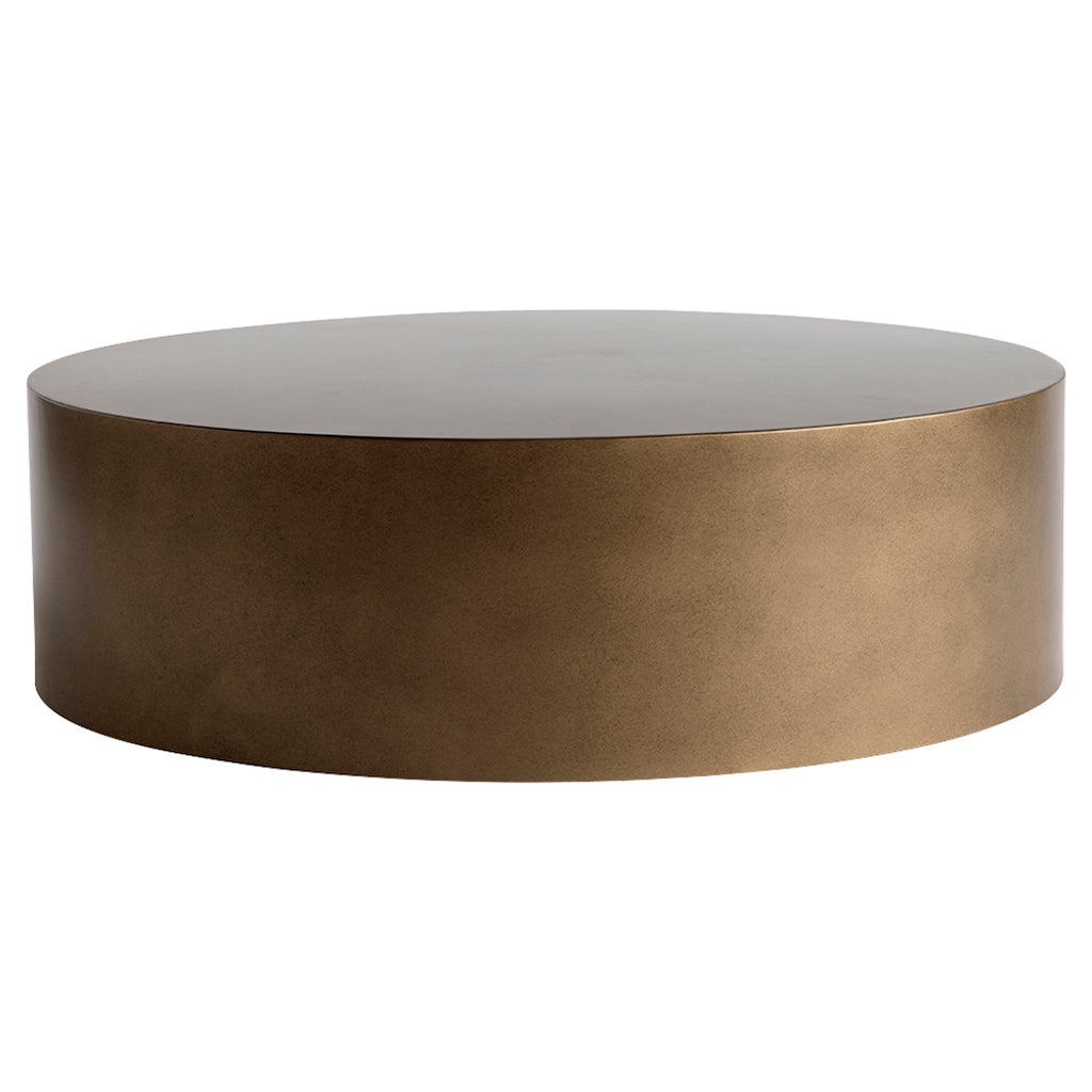 Metal coffee table in bronze