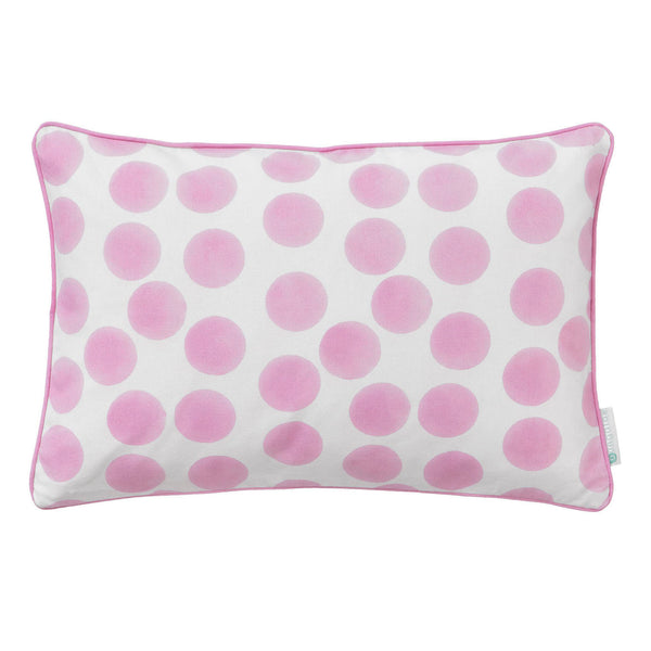 pink spotted cushion
