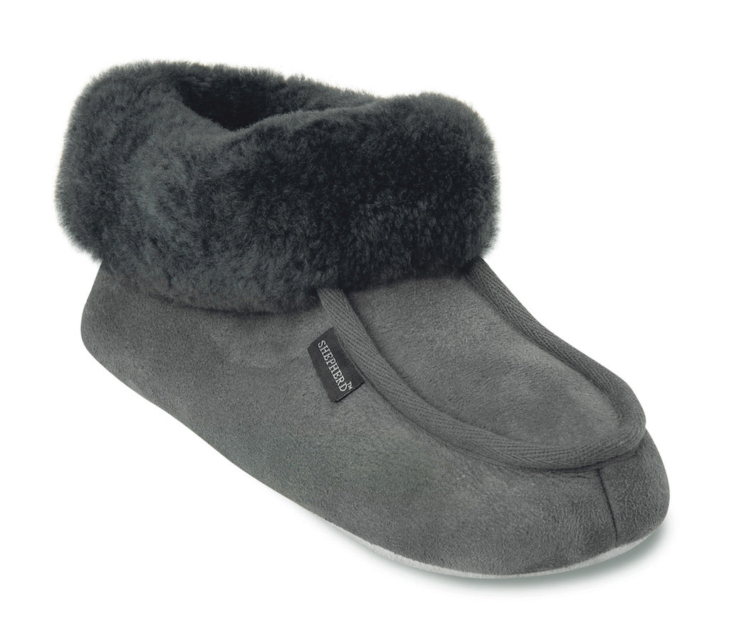 Shepherd sheepskin slippers grey
