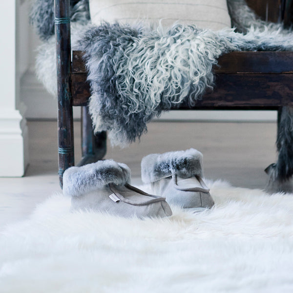 Shepherd Moa grey sheepskin Slippers