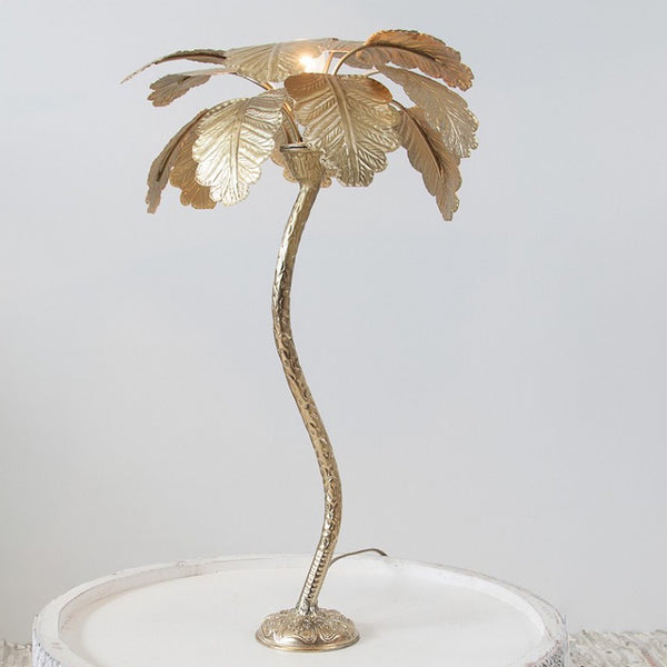 Brass palm tree lamp by Zenza