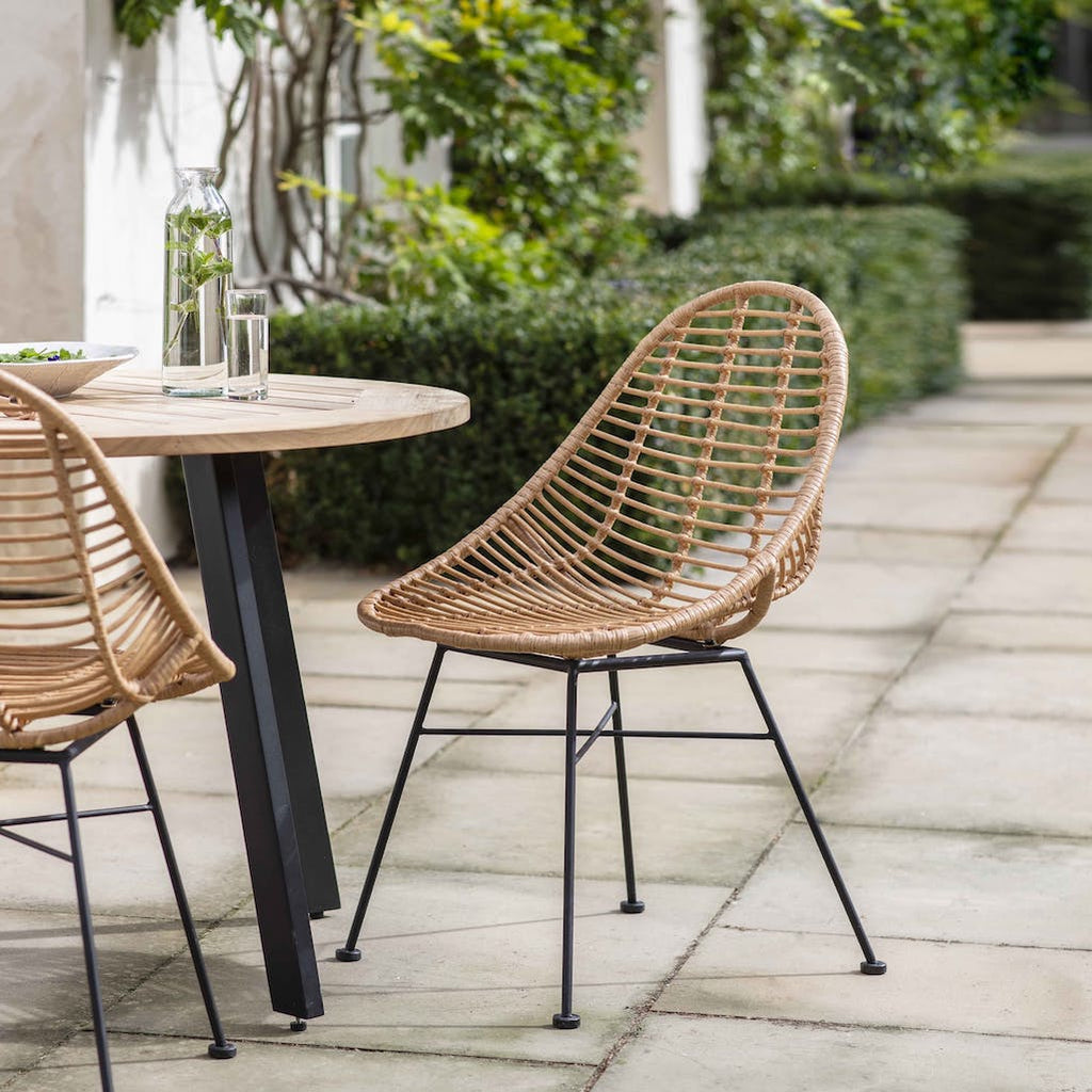 Set of two outdoor bamboo chairs