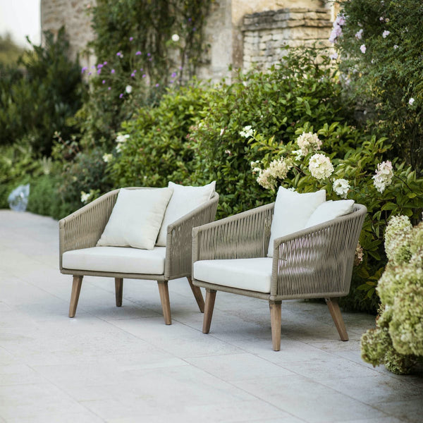 set of two Colwell outdoor armchairs