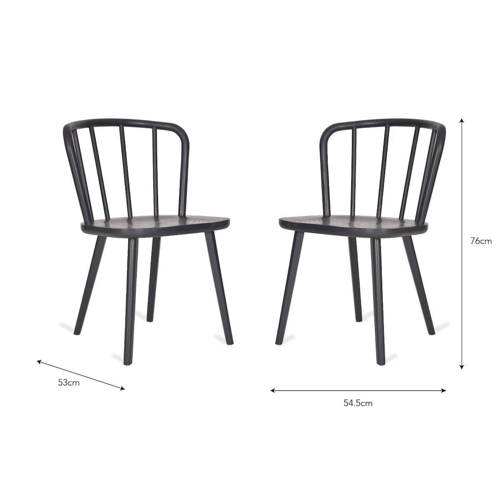 black wooden dining chairs Uley