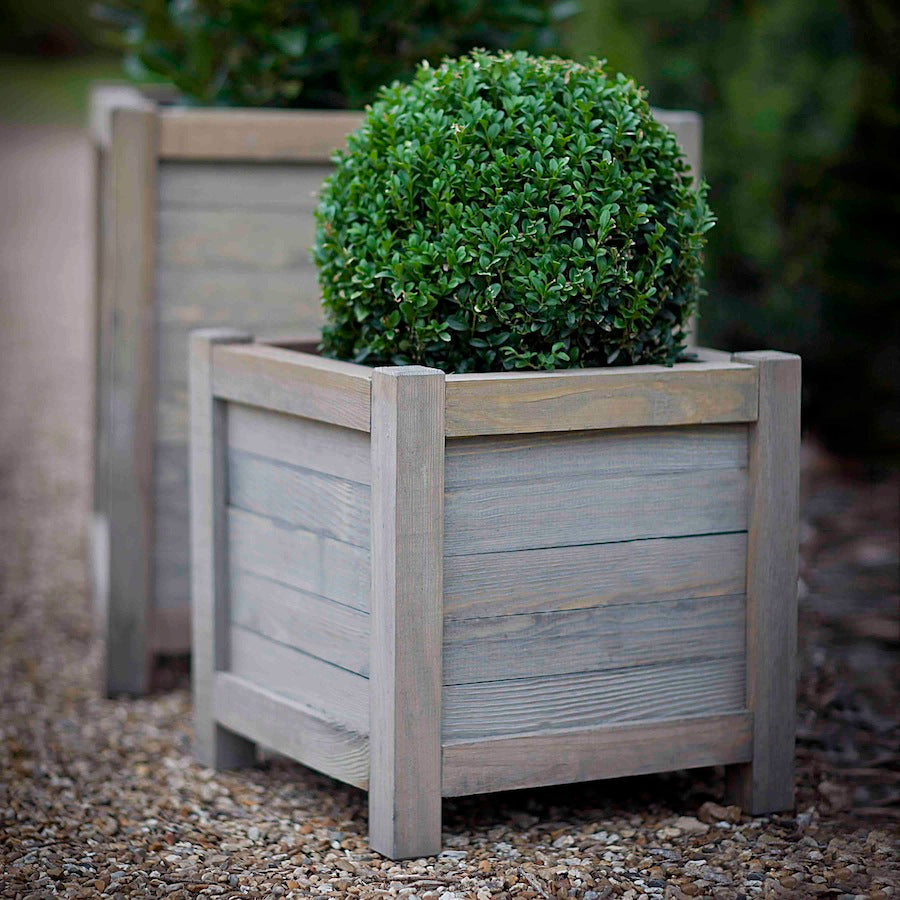 square planter in wood by Garden Trading
