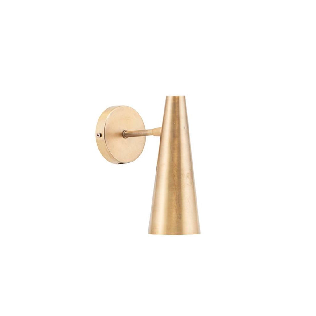 modern brass wall lamp with adjustable head