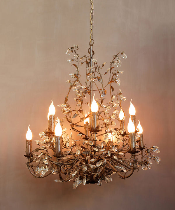 Glass and metal Chandelier