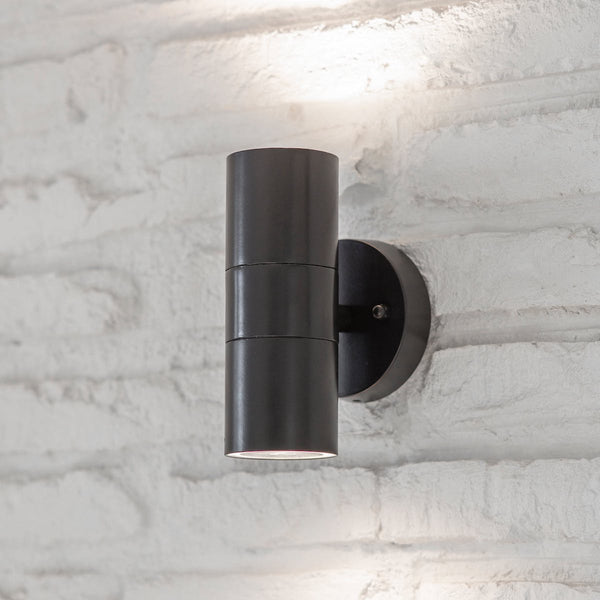 Regent up and down outdoor wall light by Garden Trading