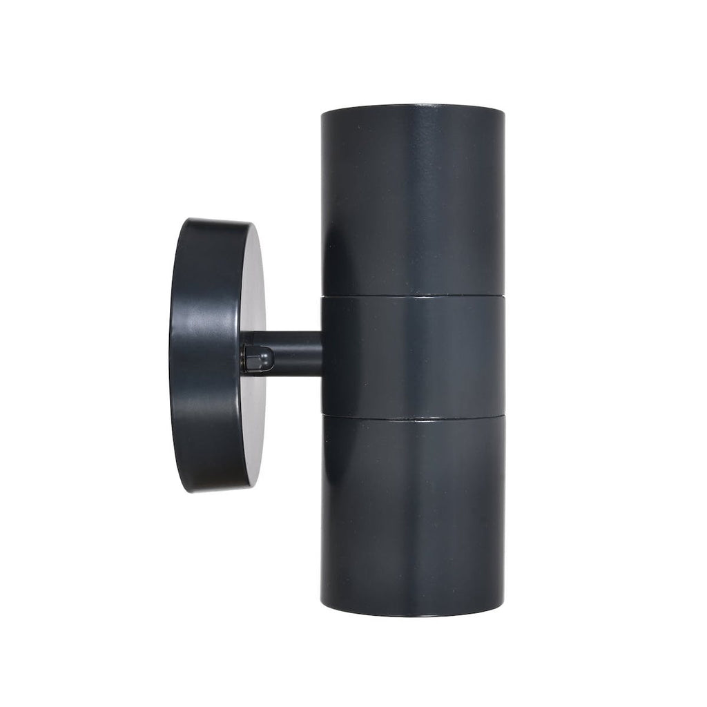 Black up and down wall light