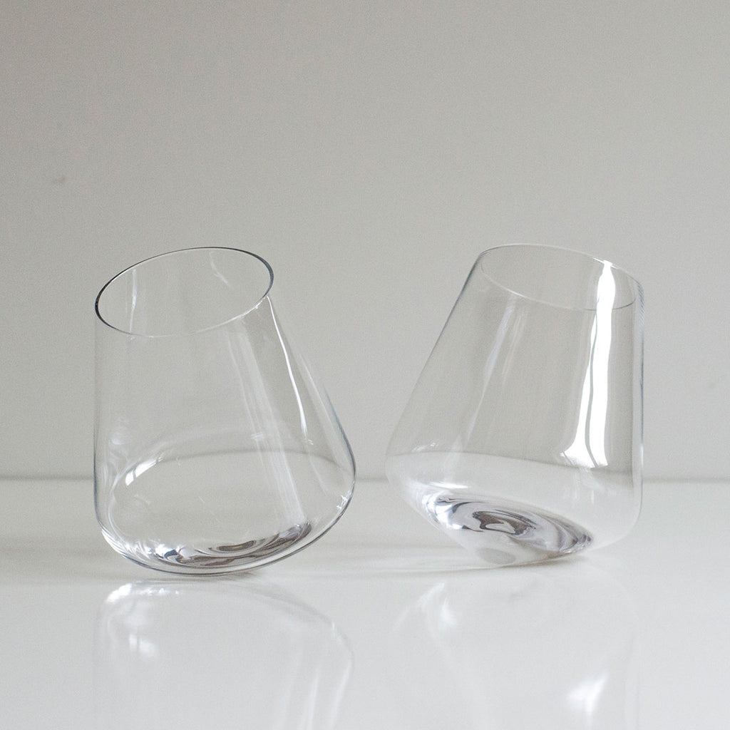 rolling cocktail glasses