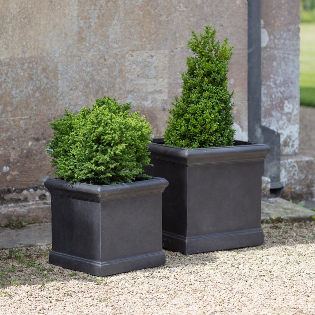 Boxgrove large square grey planter