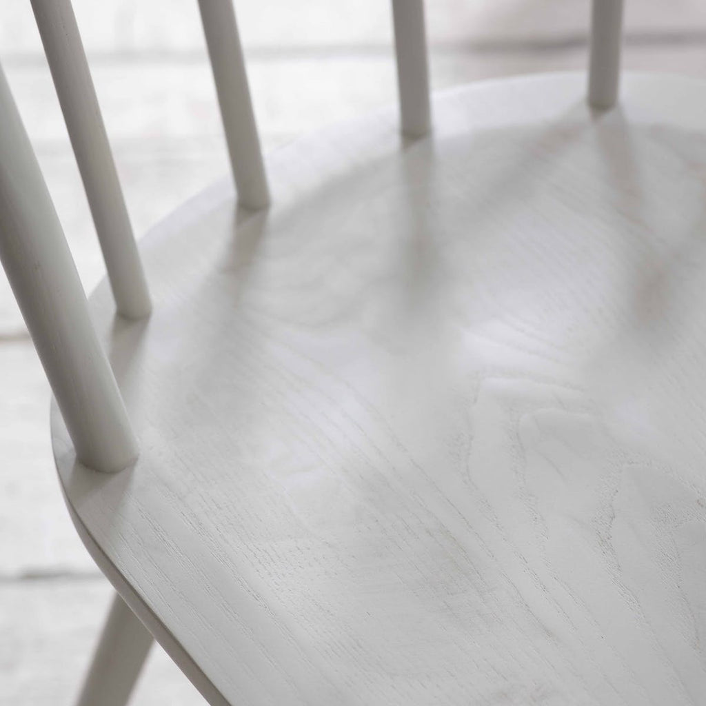 white wooden kitchen chair