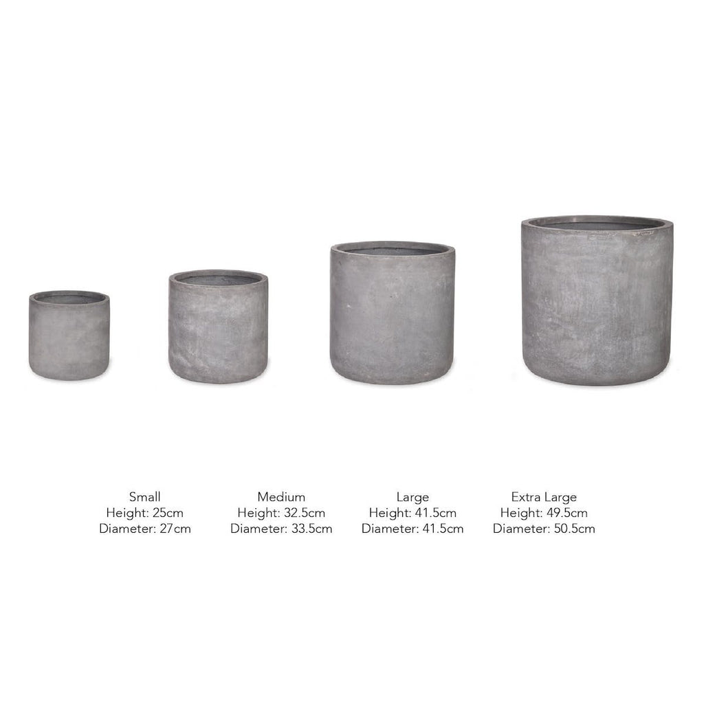 Brockwell cement planter by Garden Trading