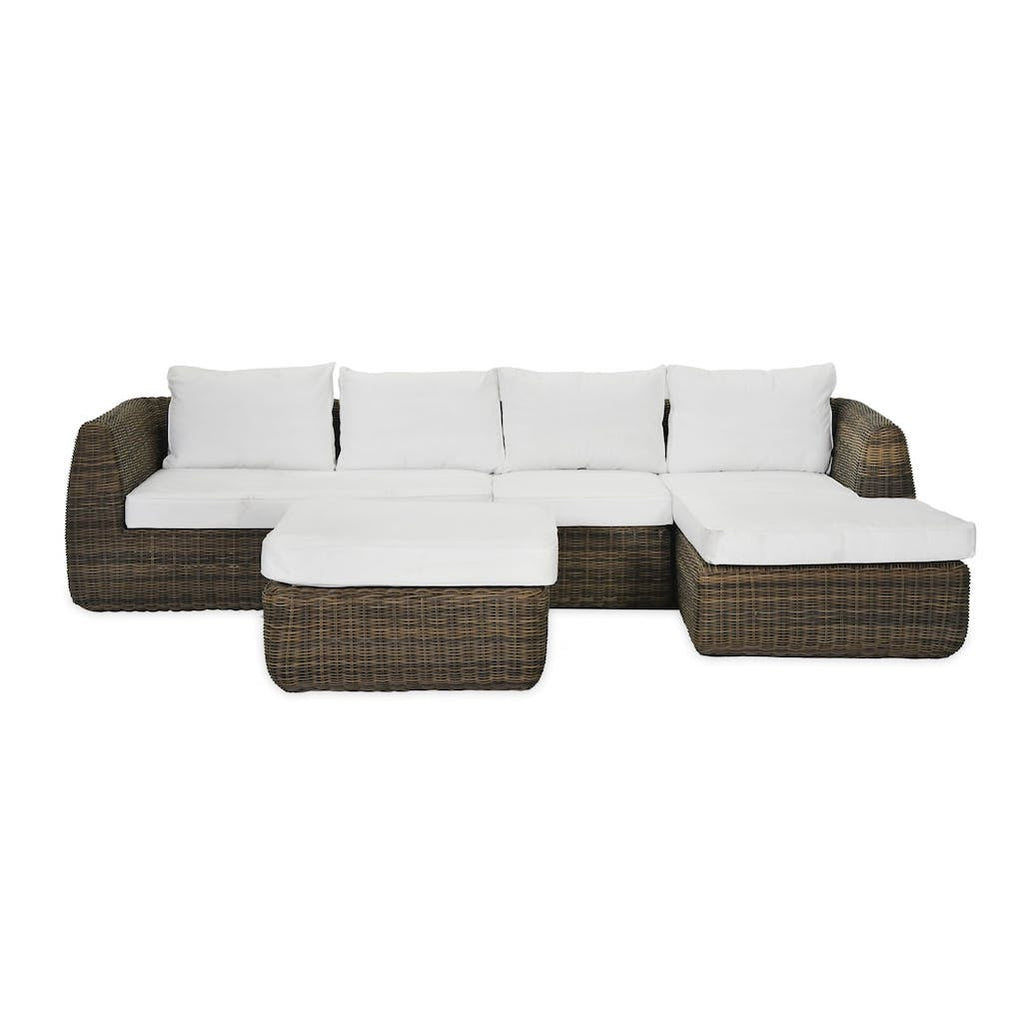 Skala outdoor rattan sofa set by Garden Trading