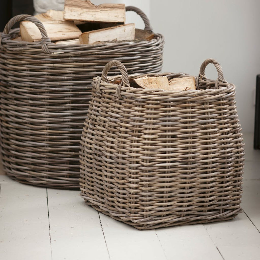 tapered rattan basket
