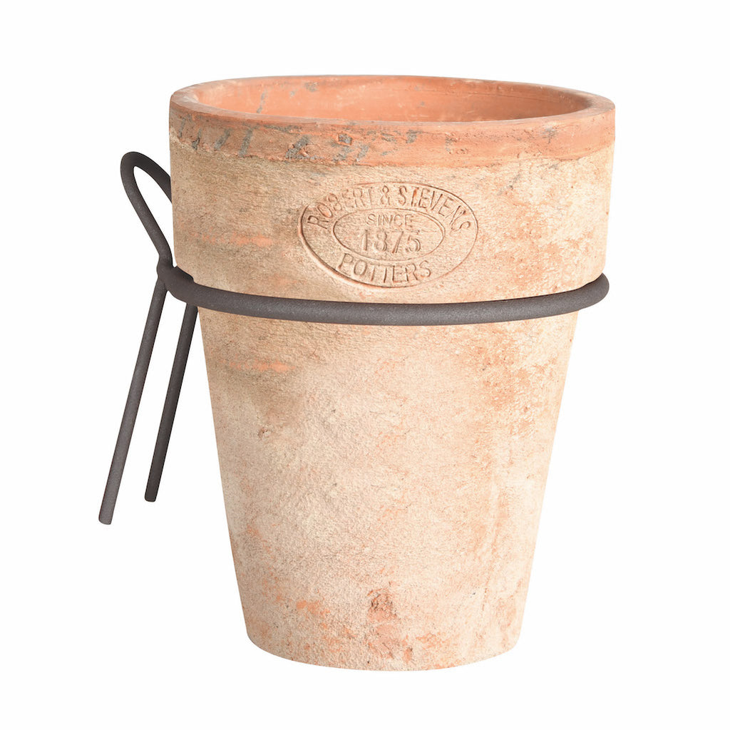terracotta plant pot with wall bracket