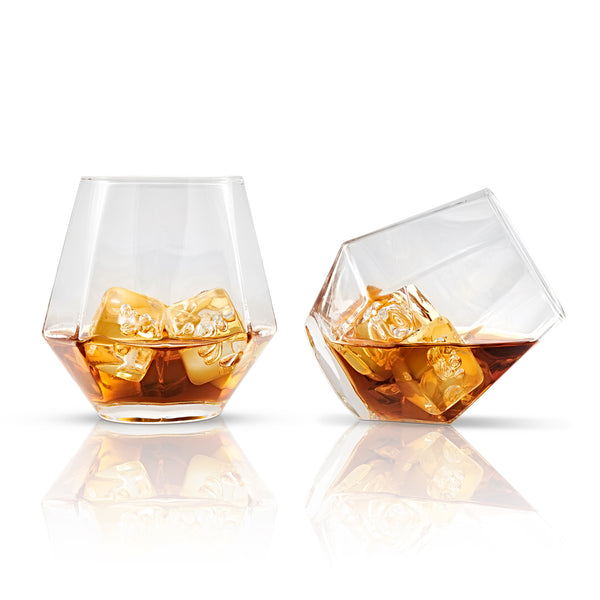 Faceted set of two glasses