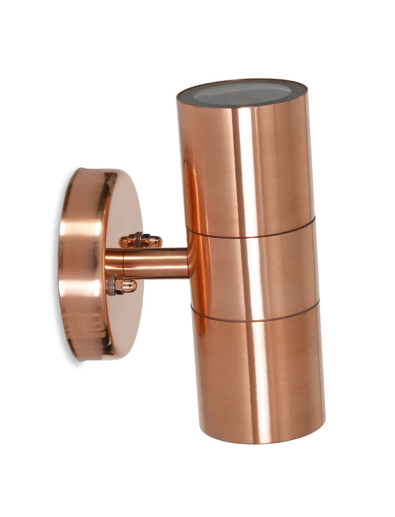 copper up and down light by Garden Trading
