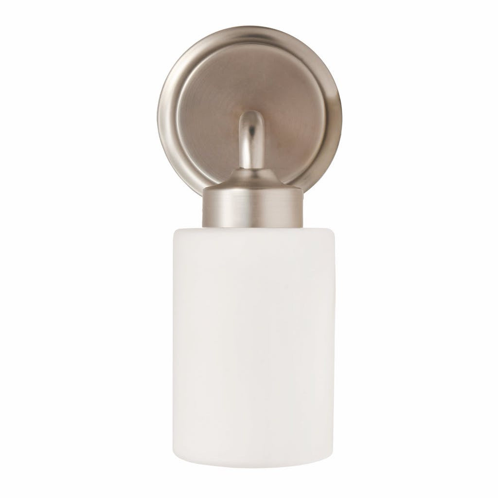 bathroom wall light with frosted glass shade