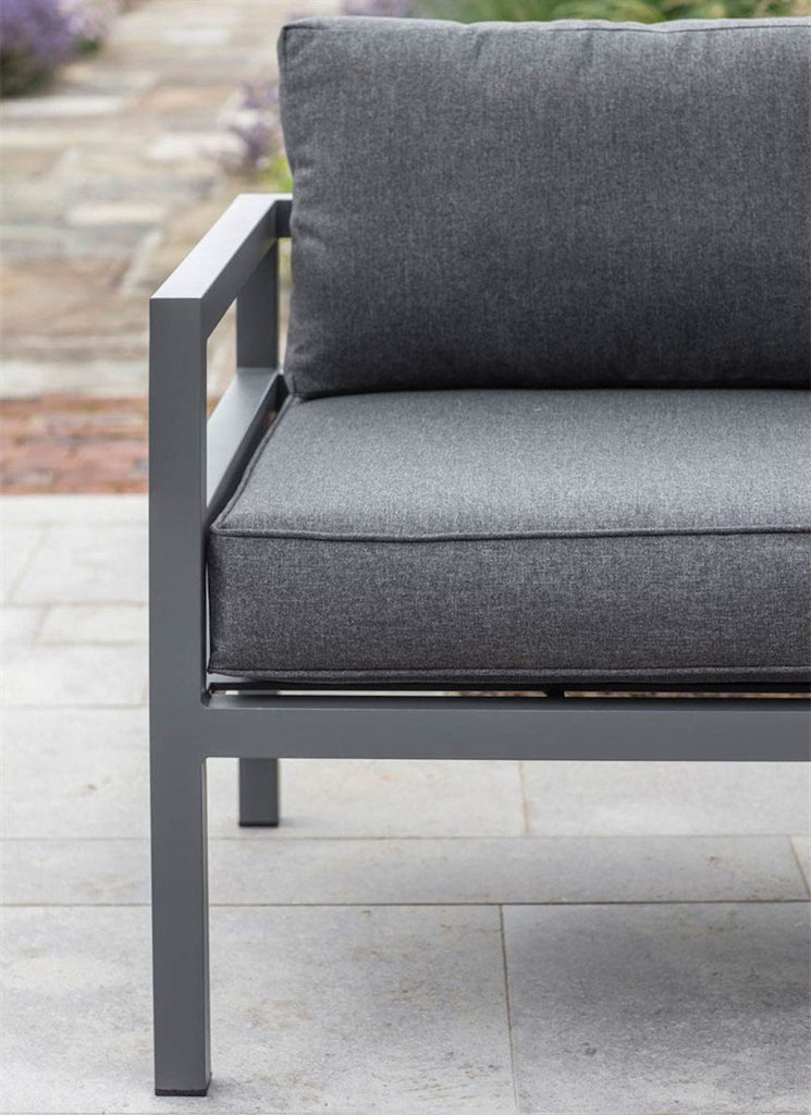 DETAIL ON OUTDOOR CORNER SOFA SET
