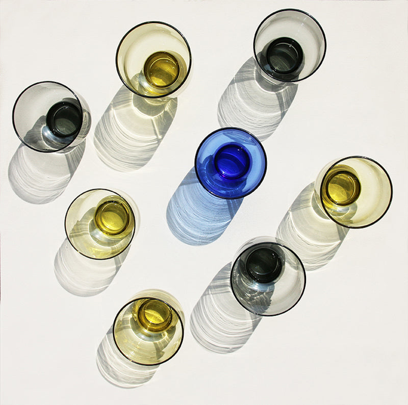 yellow water glasses by HK Living
