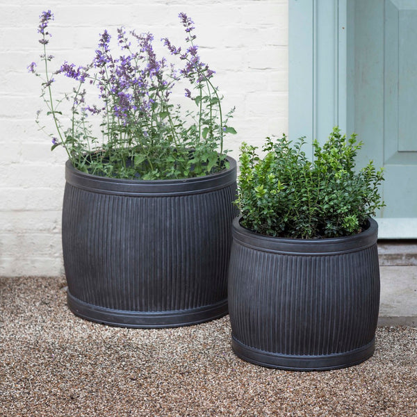 Dark grey Bathford planters by Garden Trading