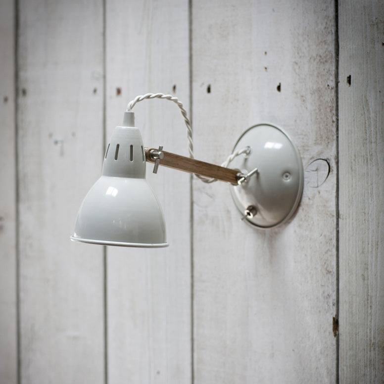 Bermondsey wall metal light white by Garden Trading