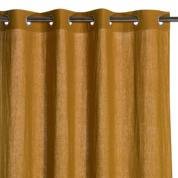 linen curtains in bronze