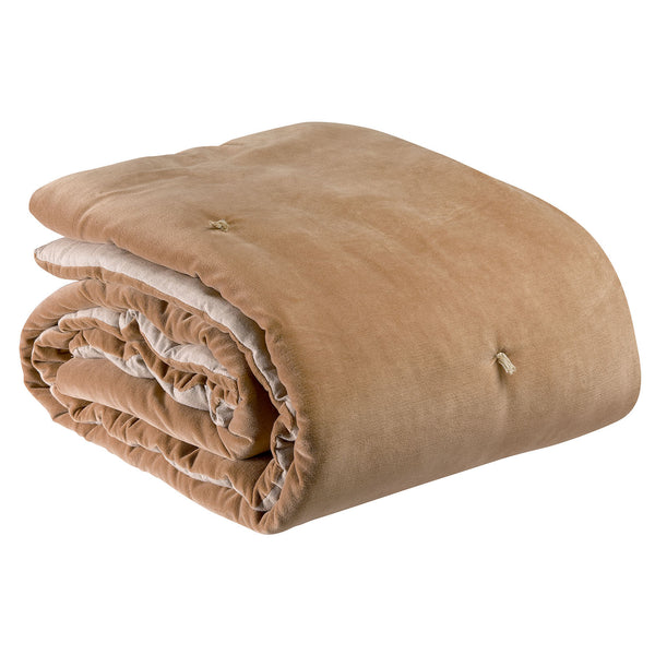 Knotted Velvet Throw - Camel