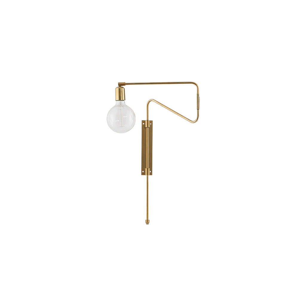 modern brass wall lamp