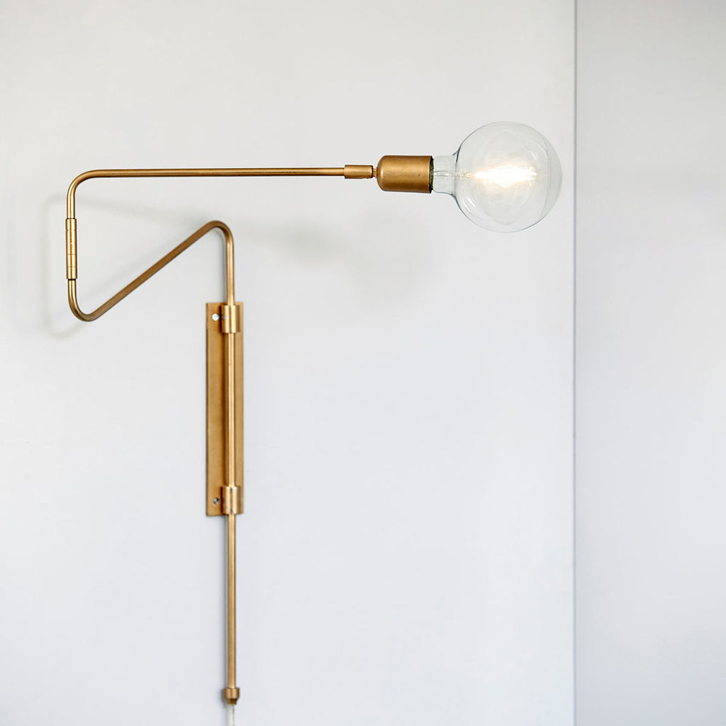 modern brass wall light by House Doctor
