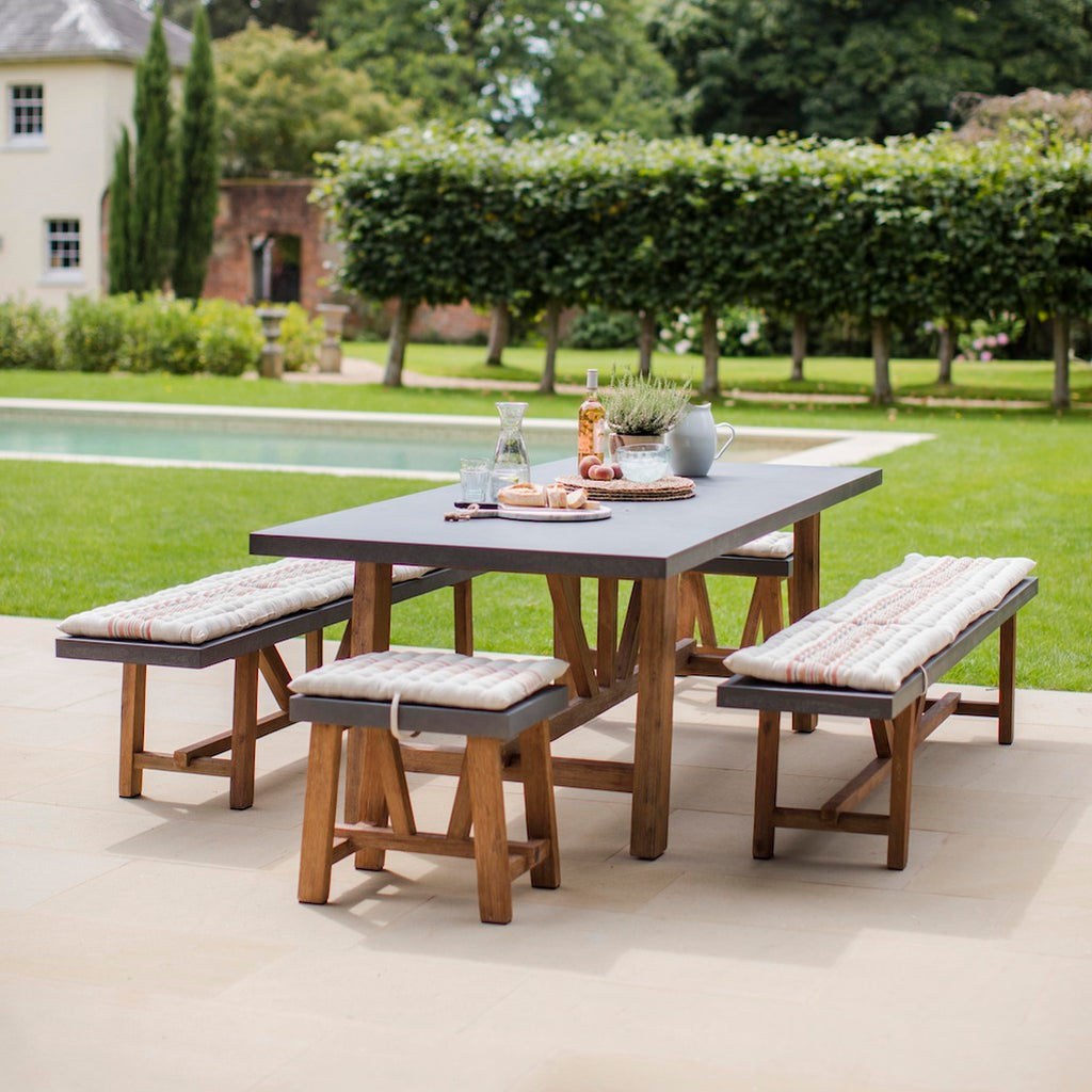 Chilson dining table and bench set