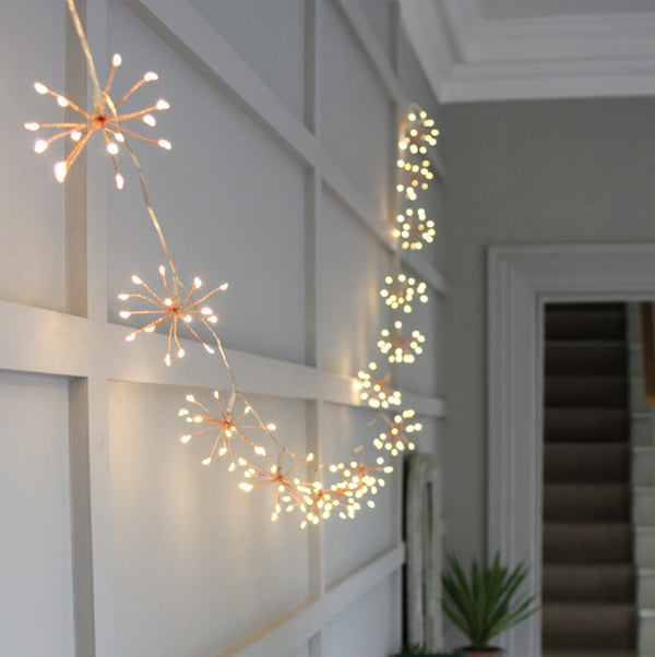 copper starburst fairy lights
