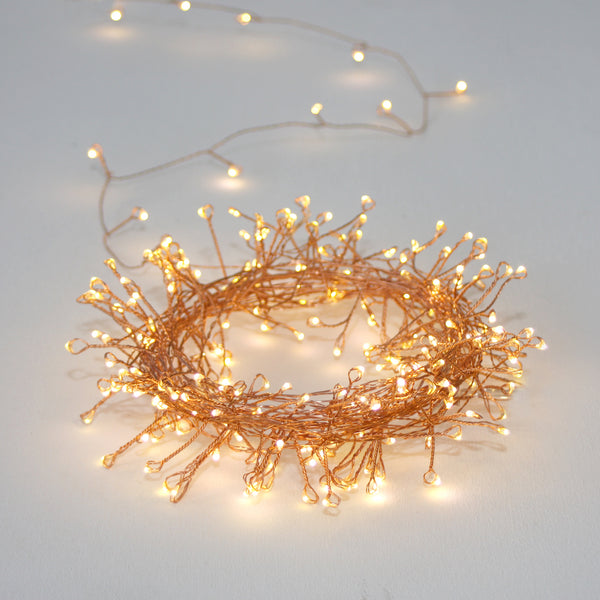 Copper Cluster Wire Lights