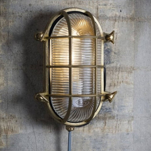 brass bulk head outdoor wall light