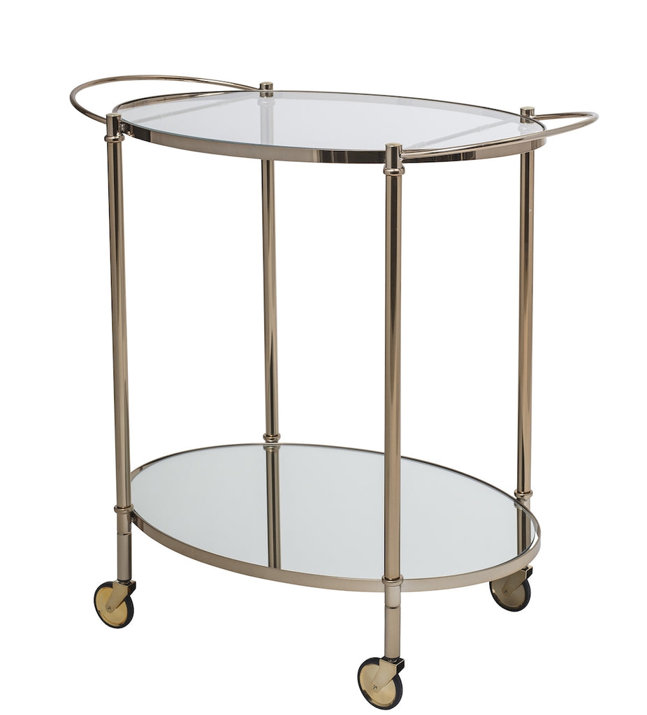 gold serving trolley