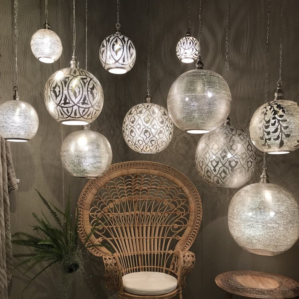 Filisky ball Moroccan pendant light