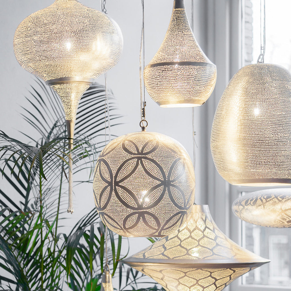 Moroccan pendant lights by Zenza